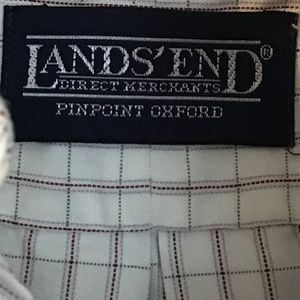 Lands' End Shirts - 5 For $15 Lands' End White Check Button Down